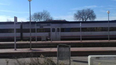 La estación de Renfe en Torrijos donde un tren con destino a Extremadura descarriló el domingo. Foto: Europa Press