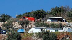 Lugar donde se encuentra el operativo de rescate del niño caído en el pozo de Totalán. Foto: Europa Press