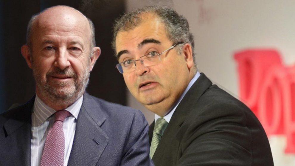 Los ex presidentes de Banco Popular, Emilio Saracho y Ángel Ron.