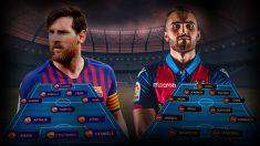 El Barcelona tendrá que remontar al Levante para estar en cuartos de final.