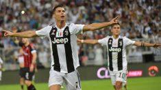 Cristiano celebra su gol ante la Juventus. (AFP)