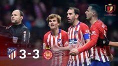El Atlético, eliminado de la Copa del Rey tras empatar en el Wanda ante el Girona.