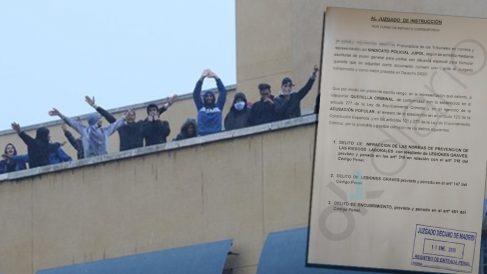 Los policías se querellan contra el CIE de Aluche por las agresiones a los agentes en el motín del 19 de octubre.
