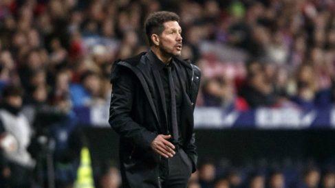 El Cholo Simeone durante el Atlético – Girona. (EFE)