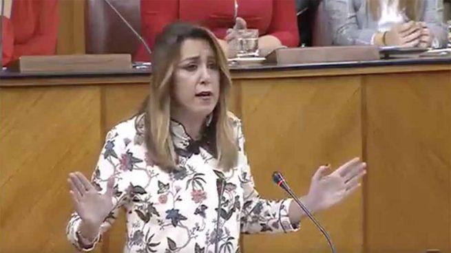 Susana Díaz en el Parlamento de Andalucía.