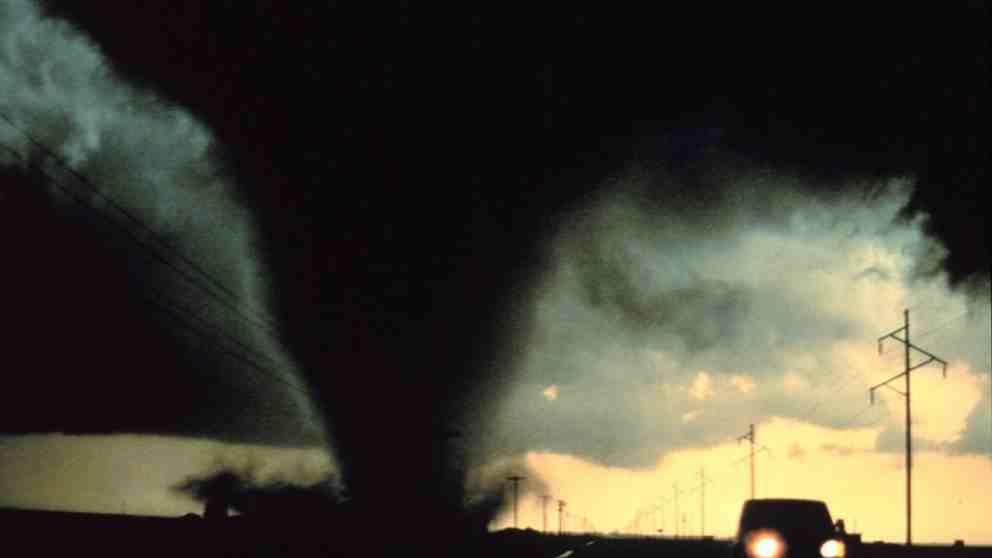 Imagen de archivo de un tornado