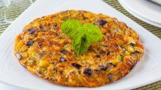 Receta de Tortilla de berenjenas y cebolla
