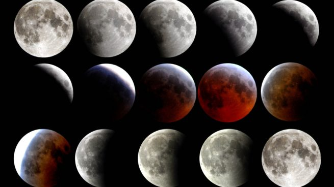 fotos del eclipse lunar y la superluna de sangre