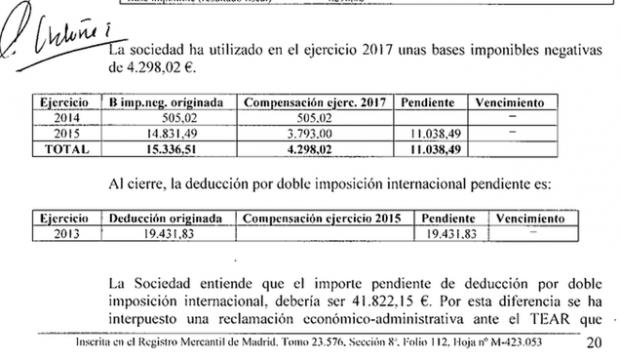FG, presidente de honor de BBVA, pleitea con Hacienda por una deducción fiscal de 20.000 euros