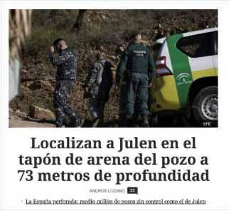 Campaña en las redes contra 'El Español' por inventarse el hallazgo del cuerpo de Julen