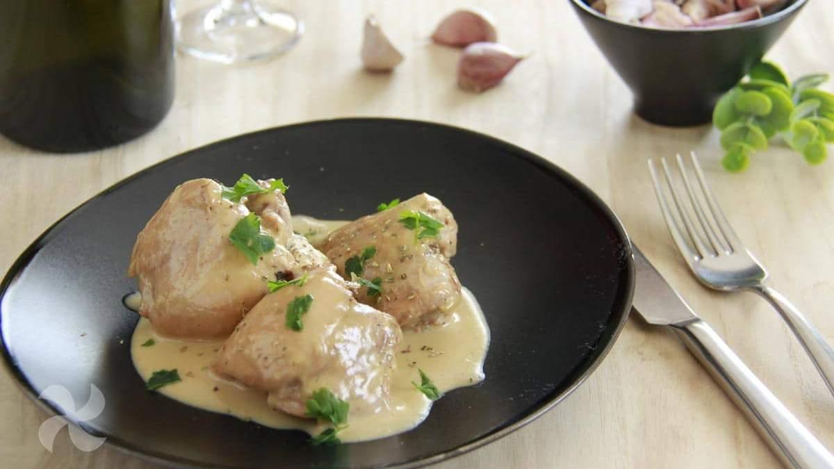 Receta de Contramuslos de pollo en salsa