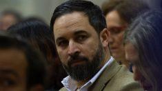 Santiago Abascal, en el parlamento andaluz.