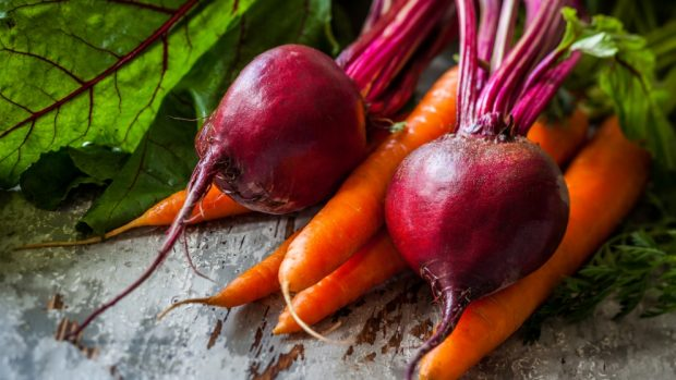Tarta de remolacha y zanahoria