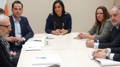 Begoña Villacís e Ignacio Aguado durante una reunión de Ciudadanos (C's). Foto: Europa Press