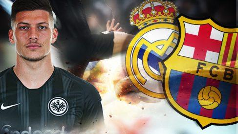 Jovic, objetivo del Real Madrid y del Barcelona.