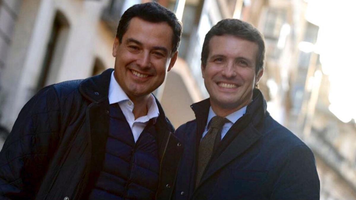 Pablo Casado con Juanma Moreno esta semana (RRSS).