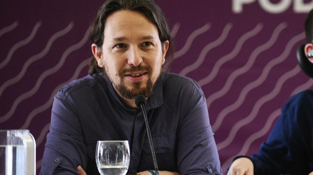 El secretario general Pablo Iglesias en una reunión del partido (Foto: Podemos).