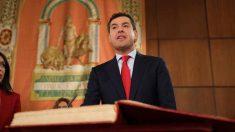 Juanma Moreno jura el cargo como presidente de la Junta de Andalucía. Foto: Europa Press