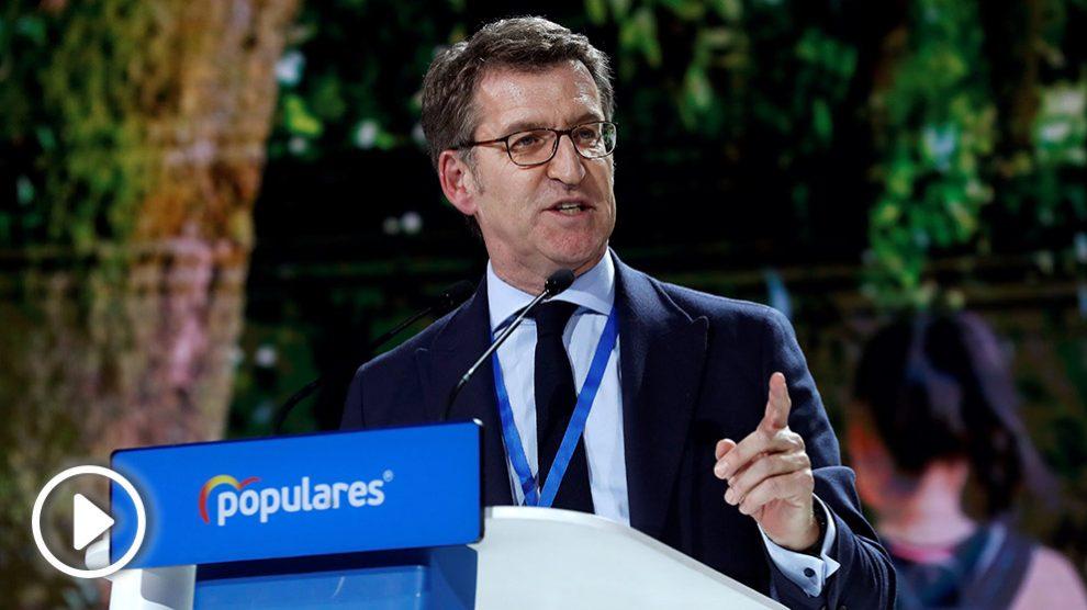 Alberto Núñez Feijóo en la Convención nacional del PP