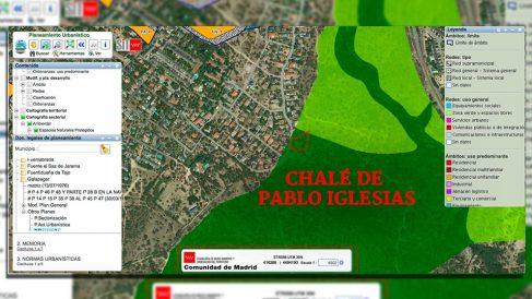 Captura del Visor SIT (Sistema de Información Territorial) de la Comunidad de Madrid en el municipio de Galapagar.