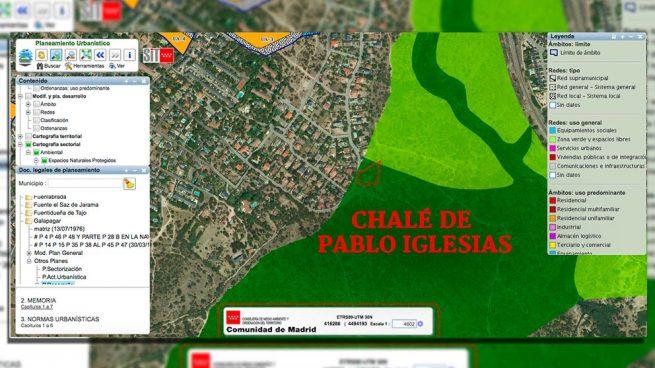 Ésta es la imagen oficial que prueba que el chalé de Iglesias está en un parque natural protegido