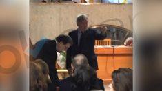 Rajoy en el funeral de la madre del ex ministro Méndez de Vigo.