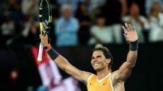 Nadal celebra su victoria en el Open de Australia. (Getty)