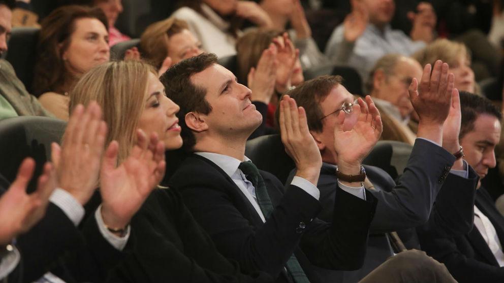 Pablo Casado en la presentación de los candidato del PP por Madrid a las elecciones autonómicas y municipales. Foto: Europa Press