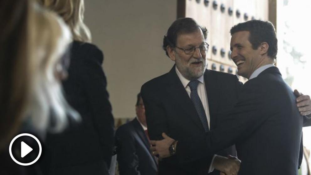 Rajoy y Casado en la investidura de Moreno. Foto: Europa Press