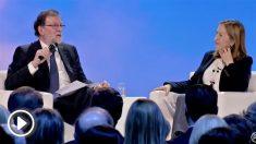 Mariano Rajoy con Ana Pastor en la Convención del PP
