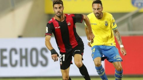 Imagen del partido entre Las Palmas y Reus de la primera vuelta. (Europa Press)