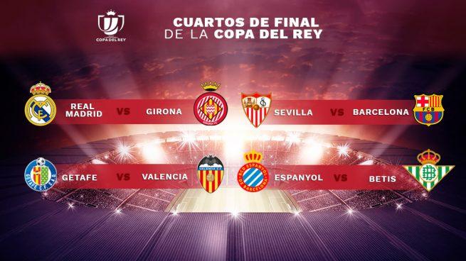 Sorteo Copa del Rey 2019: Real Madrid-Girona y Sevilla-Barça ...