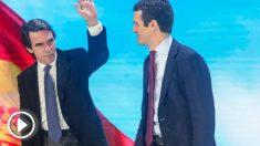 Casado y Aznar en la convención del PP (EP).