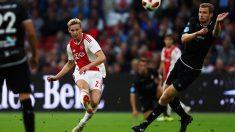De Jong, en un partido con el Ajax (Getty).