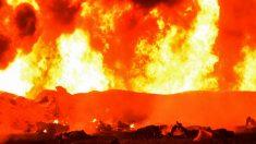 Explosión de un ducto de gasolina en México (AFP).