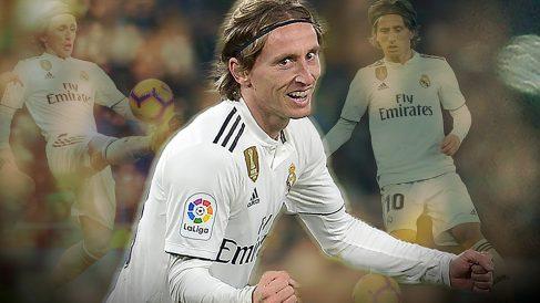 Modric mostró su mejor versión ante el Sevilla.