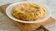 Receta de tortilla de berenjena y calabacín