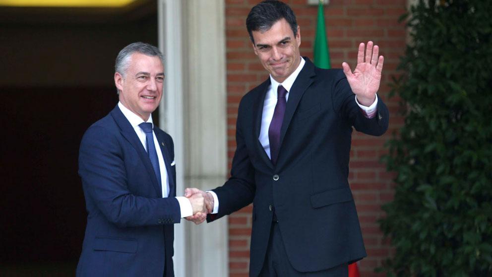 Pedro Sánchez e Iñigo Urkullu en una imagen de archivo (Foto: EFE).