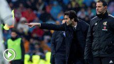 Solari, durante un partido del Real Madrid. (EFE)