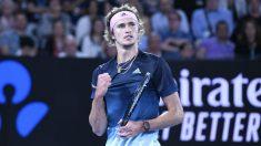 Zverev celebra un punto en el Open de Australia. (Getty)