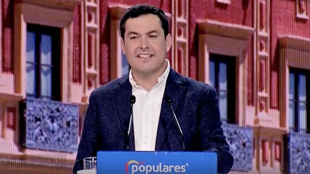 Juanma Moreno, en la Convención Nacional del PP.
