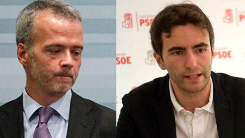 El ex ministro de Interior Antonio Camacho y el número 1 del PSOE de Santander, Pedro Casares.