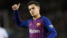 Coutinho, durante un partido del Barcelona. (AFP)