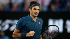 Federer, durante un partido en el Open de Australia. (Getty)