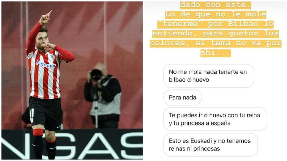 El mensaje privado que envió un aficionado a Ibai Gómez. (AFP / Instagram)