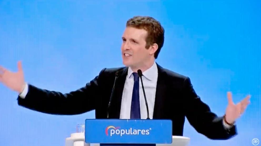 Pablo Casado en la Convención Nacional del PP
