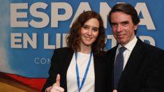 Isabel Díaz Ayuso con José María Aznar en la Convención Nacional del PP. Foto: PP de Madrid