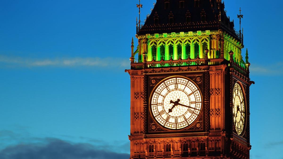 El reloj del Big Ben en Londres