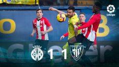 Villarreal y Athletic empatan. (EFE)