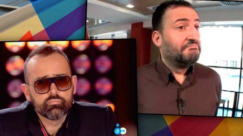 El publicista Risto Mejide, junto al coproductor de su programa, el independentista Toni Soler.